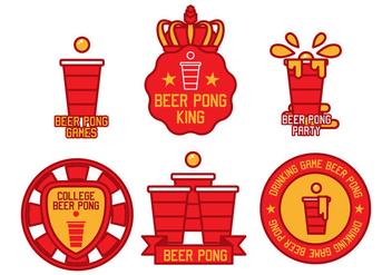 Beer Pong Vector - Free vector #391677