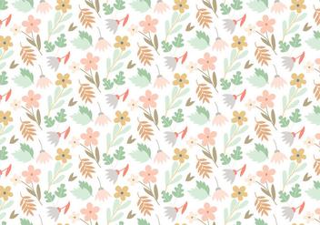 Floral Vector Pattern - Kostenloses vector #391697