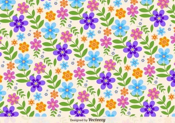 Floral Retro Vector Background - Free vector #391747