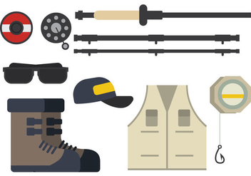 Fly Fishing Vector - Free vector #391837