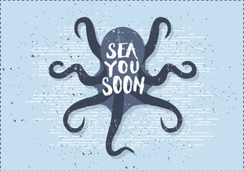 Free Vintage Octopus Vector Illustration - Free vector #391977
