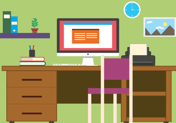 Free Business Office Vector Illustration - Free vector #392037