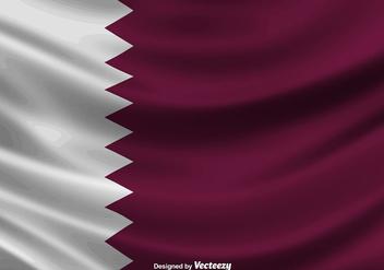 Illustration Of Qatar Flag - Vector - Free vector #392197