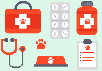 Free Vet Elements Vector - Free vector #392347