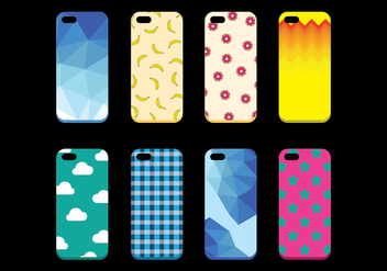 Free Set of Phone Case Vector - Kostenloses vector #392657