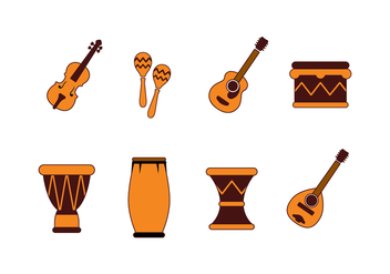 Free Musical Instrument and Percussion Icons Vector - Kostenloses vector #392687