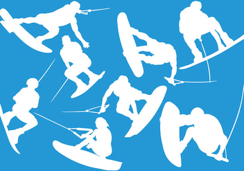 Free Wakeboarding Icons Vector - Free vector #392807