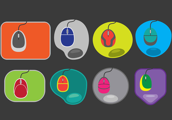 Mouse Pad Icons - vector #392837 gratis