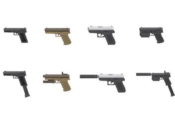 Free Glock Pistol Vector - Free vector #392857