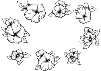 Free Hand Drawn Pansy Vector - Free vector #392867