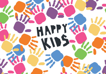 Kids' Hands Children's Day Vector - vector gratuit #392877