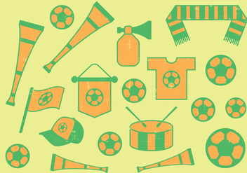 Football Icons - vector #393137 gratis