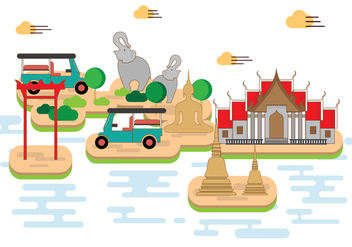Free Bangkok Illustration - Free vector #393167
