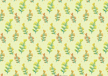 Mimosa Flowers Seamless Pattern - vector gratuit #393287