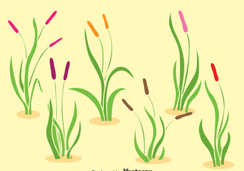 Reeds Collection Vector Set - Free vector #393337