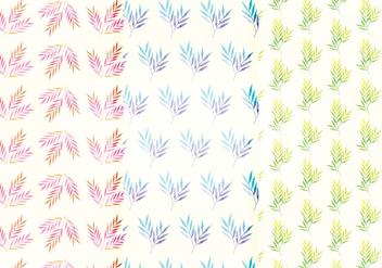 Vector Watercolor Branch Patterns - Free vector #393367