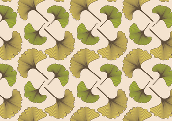 Ginko Pattern Vintage - Free vector #393657