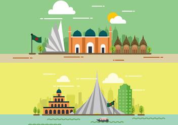 Bangladesh City Vector - vector gratuit #393667