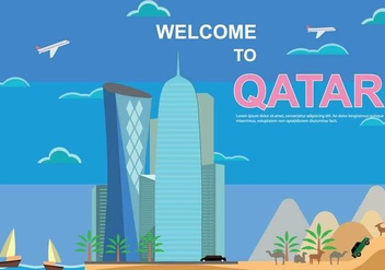 Free Qatar Illustration - vector #394057 gratis
