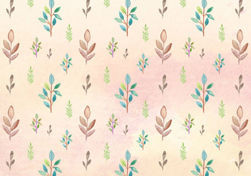 Free Vector Watercolor Leaves Pattern - бесплатный vector #394137