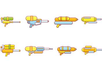 Water Gun Vector - Kostenloses vector #394187