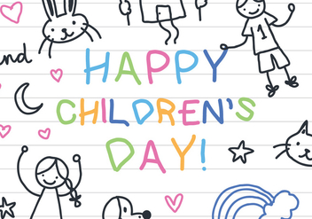 Children's Notebook Paper Vector - vector gratuit #394197