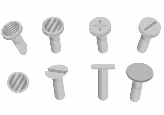 Nail Head Vector Set - Free vector #394287