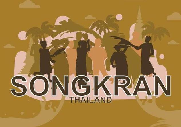Free Songkran Illustration - Free vector #394307