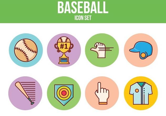 Free Baseball Icon Set - Free vector #394317