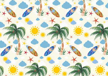 Free Vector Summer Seamless Pattern - Free vector #394327
