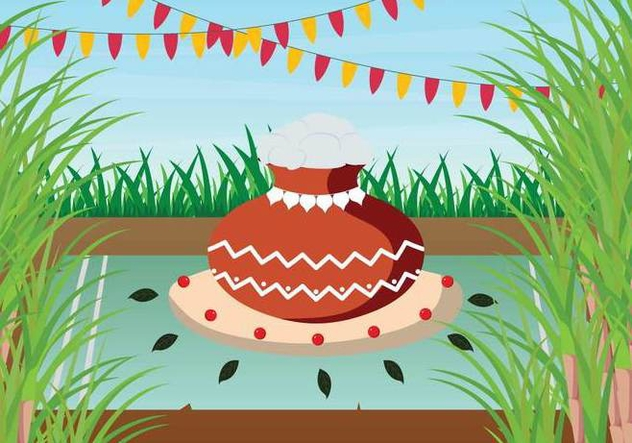 Free Pongal Illustration - Free vector #394347