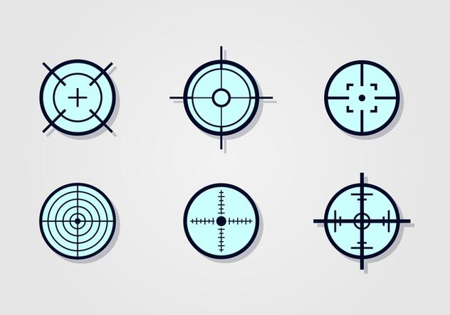 Laser Tag Target Vector Set - Free vector #394467