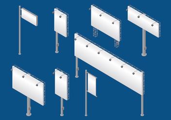 Hoarding Isometric Vector - vector gratuit #394537
