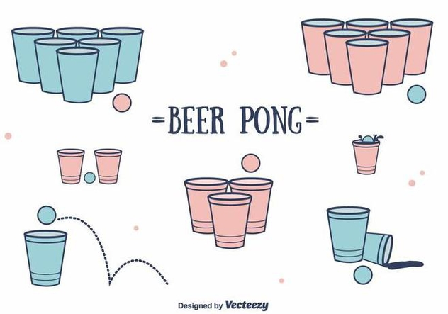 Beer Pong Vector - Free vector #394547