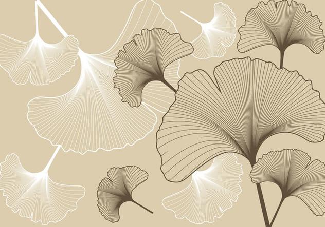 Ginko Pattern Background - Free vector #394567