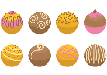 Free Truffles Icons Vector - Free vector #394577