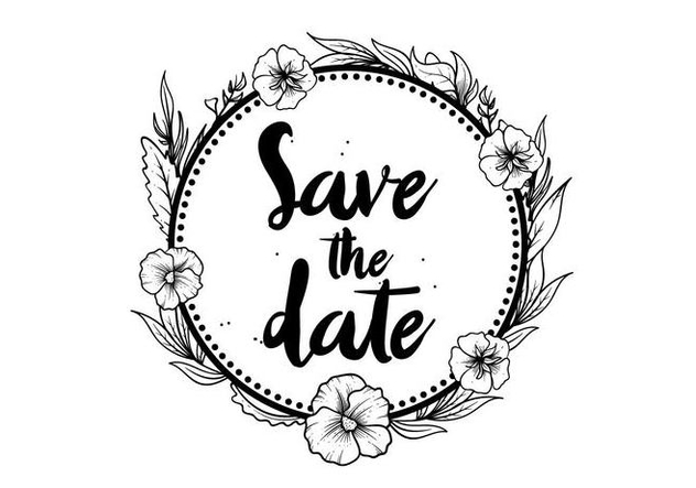 Free Save The Date Pansy Flower Vector - Free vector #394617