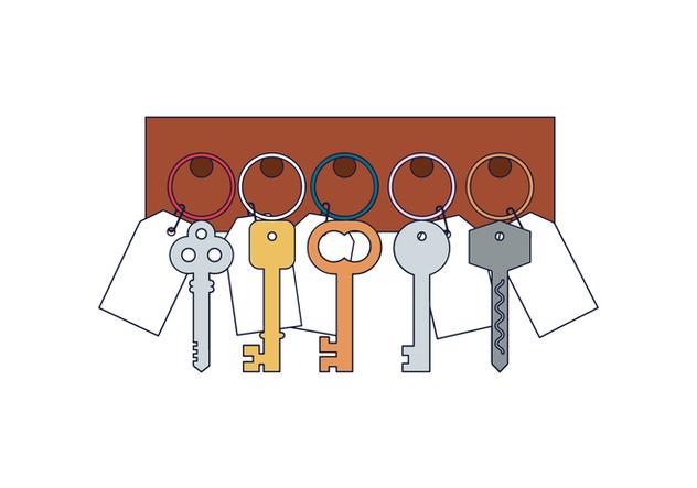 Free Key Holder Vector - Free vector #394657