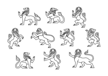 Free Lion Rampant Vector - Free vector #394697