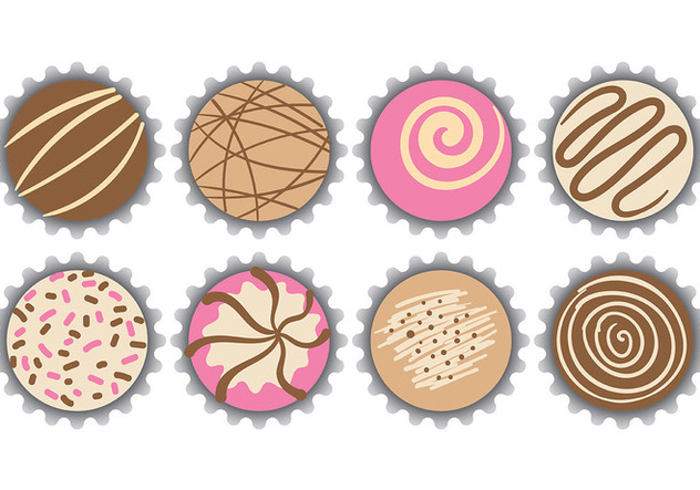 Free Truffles Icons Vector - Free vector #394717