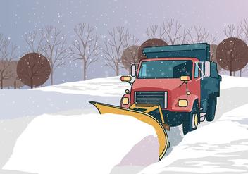 Snow Plow Truck - vector gratuit #394927