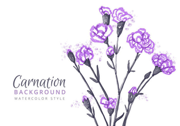 Free Carnation Flowers Background - Kostenloses vector #394947