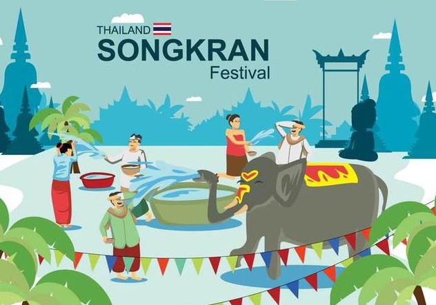 Free Songkran Illustration - Free vector #394967