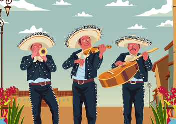 Group Of Mariachi - бесплатный vector #394977