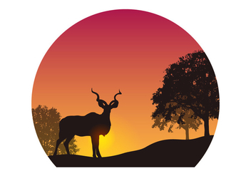 Kudu Silhouette Vector - Free vector #395007