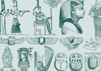 Green Egypt Art - Free vector #395187
