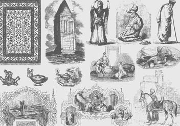 Gray Arabian Illustrations - Kostenloses vector #395197