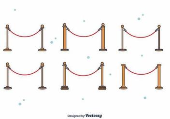 Free Velvet Rope Vector - Free vector #395257