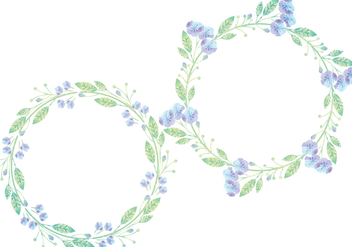 Vector Floral Wreaths - Free vector #395277
