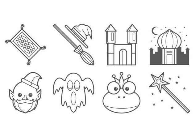 Free Fairy Tales Icon Vector - Free vector #395347